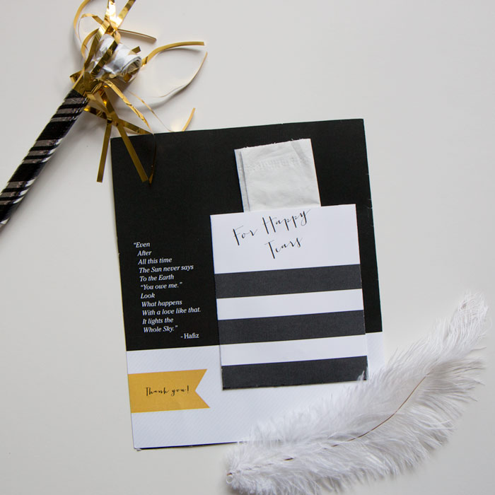 wedding program with pocket | thethumbprint.com