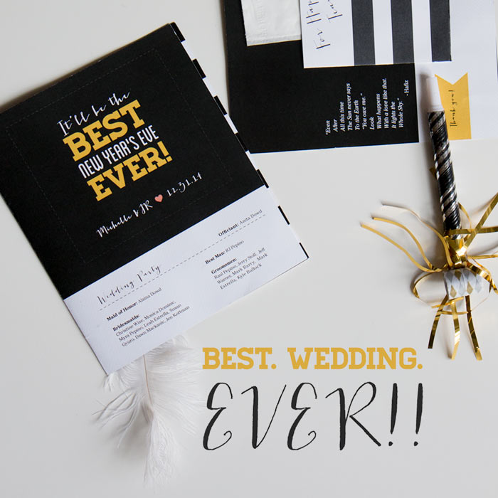 new year's eve wedding stationary | thethumbprint.com