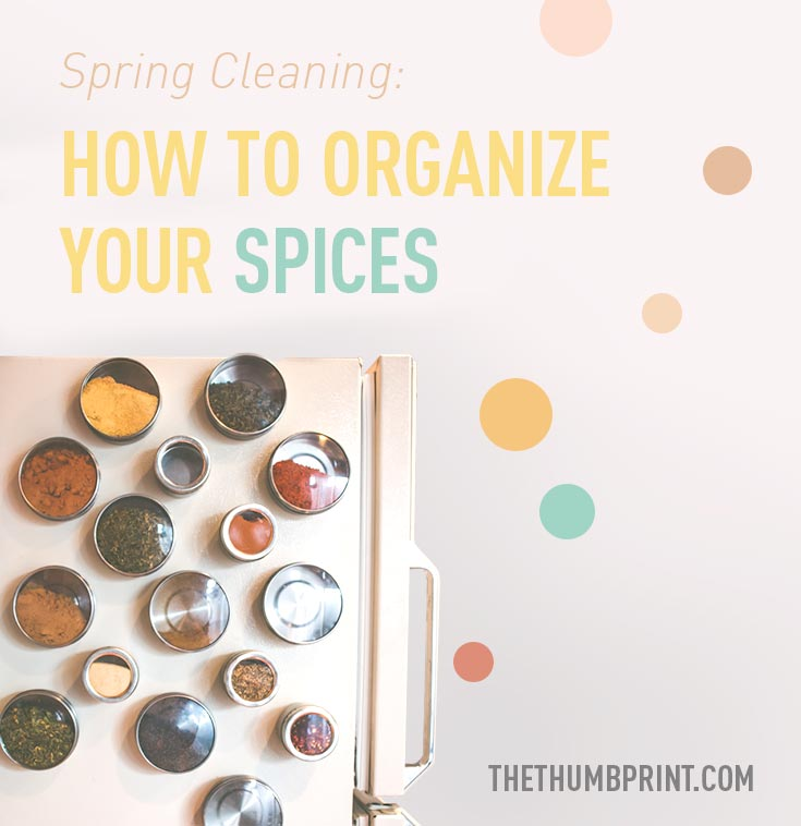 Spring Cleaning: How to Organize Your Spices | thethumbprint.com