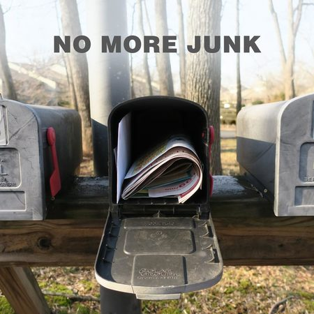 No more junk mail please